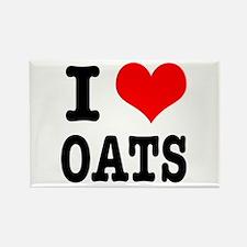 I Heart (Love) Oats Rectangle Magnet