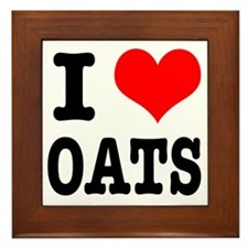 I Heart (Love) Oats Framed Tile