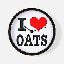 I Heart (Love) Oats Wall Clock
