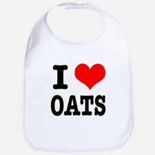 I Heart (Love) Oats Bib
