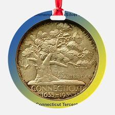Connecticut Tercentenary Half Dolla Ornament