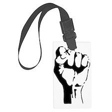raised fist Luggage Tag