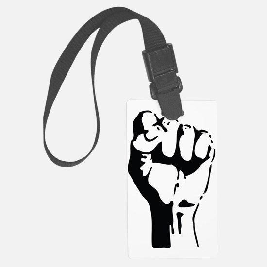 raised fist Luggage Tag