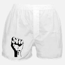 raised fist Boxer Shorts