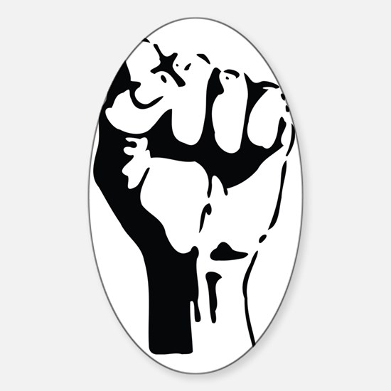 raised fist Sticker (Oval)
