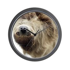 Sloth Round Cocktail Plate Wall Clock