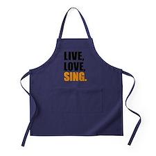 live love sing Apron (dark)