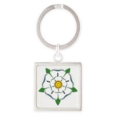 Yorkshire Rose Square Keychain