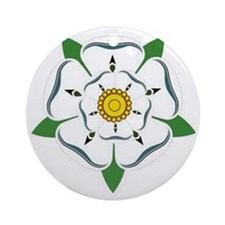 Yorkshire Rose Round Ornament