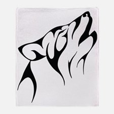 Wolf outline Throw Blanket