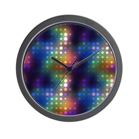 Wall Clocks With Neon Lights : Neon Lights Abstract Wall Clock by Admin_CP14149682