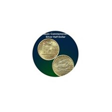 Delaware Tercentenary Half Dollar Coin Mini Button