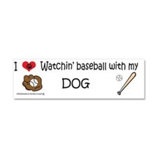 i love watching baseball with my Car Magnet 10 x 3