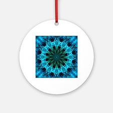 Blue Energy Round Ornament