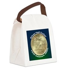 Delaware Tercentenary Half Dollar Canvas Lunch Bag