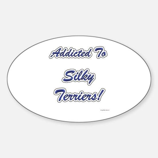 Silky Addicted Oval Decal
