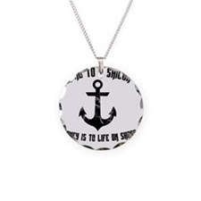 Wind To A Sailor - Black Necklace