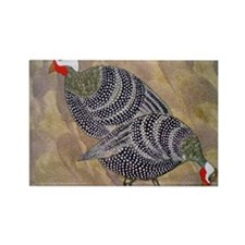 Guinea Hens Rectangle Magnet