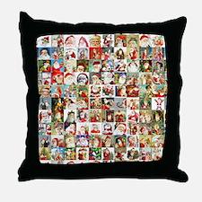 Many Many Santas Throw Pillow