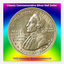 "Hawaiian Sesquicentennia Square Car Magnet 3"" x 3"""