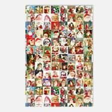 Many Many Santas Postcards (Package of 8)