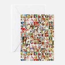 Many Many Santas Greeting Card