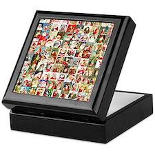 Many Many Santas Keepsake Box