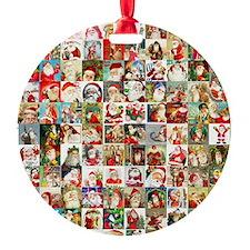 Many Many Santas Ornament