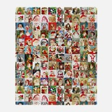 Many Many Santas Throw Blanket