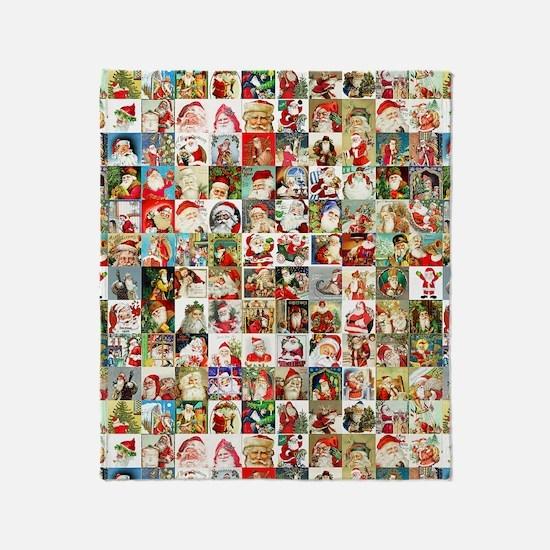 Many Many Santas Throw Blanket