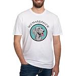 weimaraner circle portrait Fitted T-Shirt