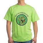 weimaraner circle portrait Green T-Shirt