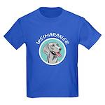 weimaraner circle portrait Kids Dark T-Shirt