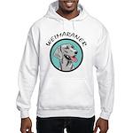 weimaraner circle portrait Hooded Sweatshirt