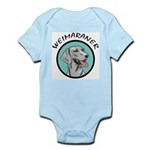 weimaraner circle portrait Infant Bodysuit