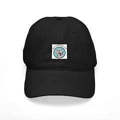 weimaraner circle portrait Baseball Hat