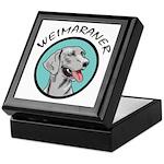 weimaraner circle portrait Keepsake Box