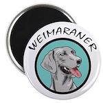 weimaraner circle portrait Magnet