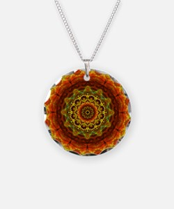 Gold Button Mandala Necklace
