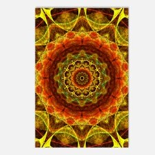 Gold Button Mandala Postcards (Package of 8)