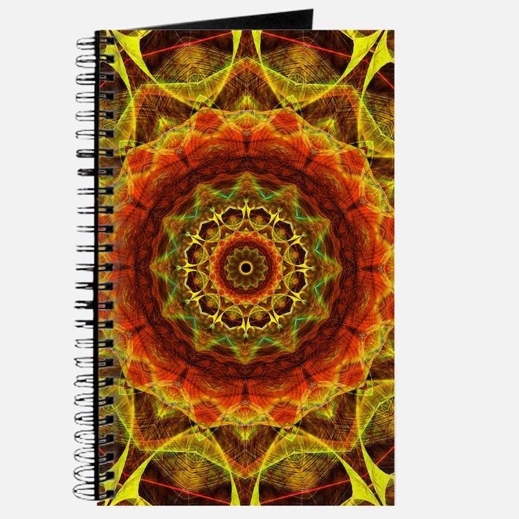 Gold Button Mandala Journal