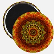 Gold Button Mandala Magnet