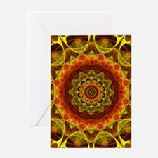 Gold Button Mandala Greeting Card