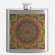 Gold Button Mandala Flask