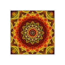 "Gold Button Mandala Square Sticker 3"" x 3"""