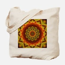 Gold Button Mandala Tote Bag