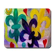 Mardi Gras Fleur de lis Mousepad