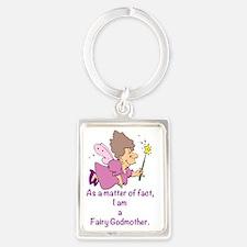 I am a Fairy Godmother Portrait Keychain