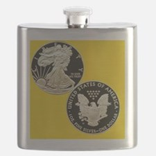 American Eagle Silver Dollar Coin Flask