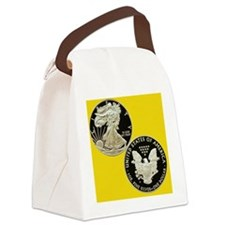 American Eagle Silver Dollar Coin Canvas Lunch Bag